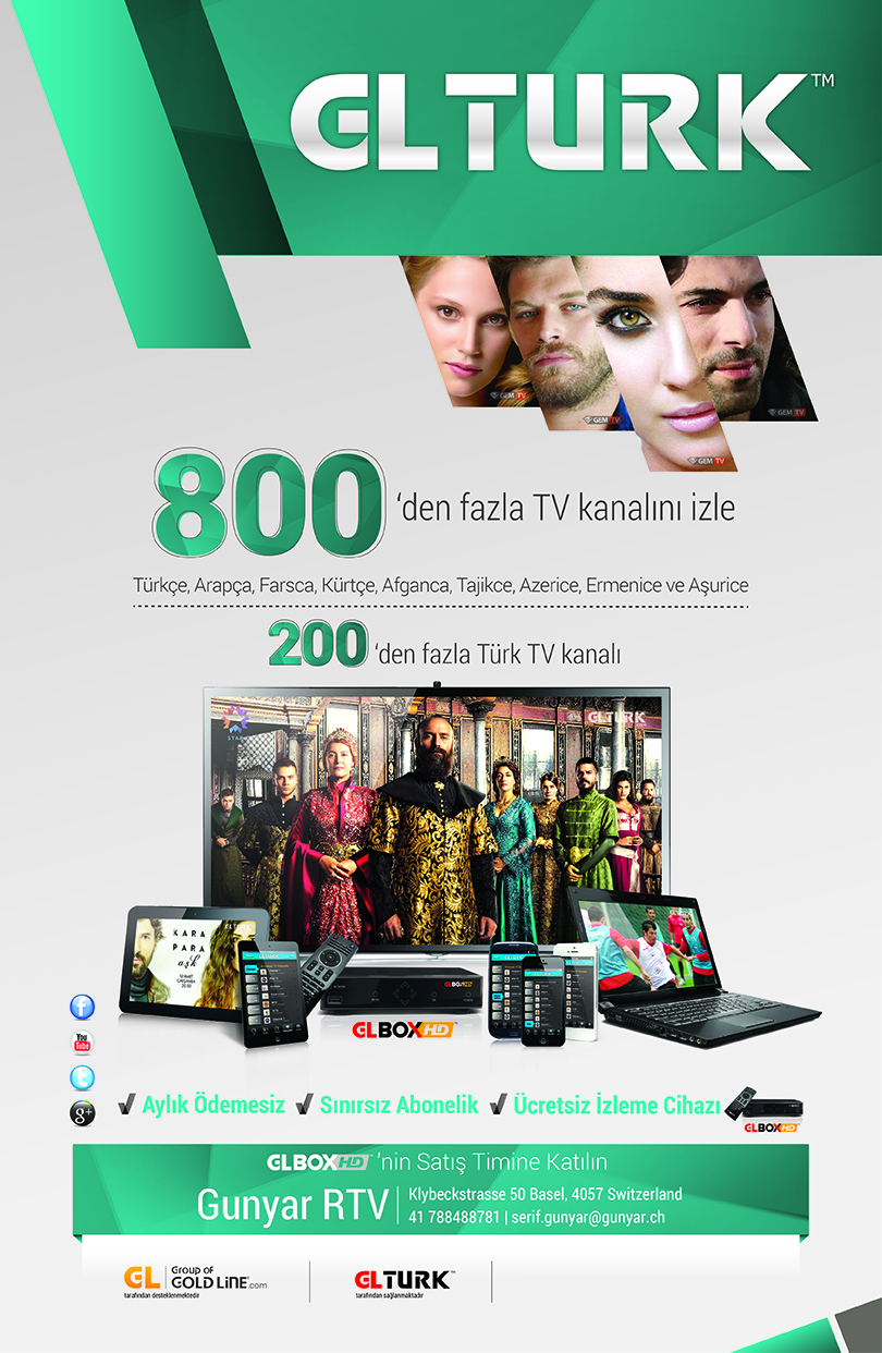 200 ün üstünde Türk 30 Kürt ve Arab Kanallari  Aylik , Yilik Abo ödeme yok